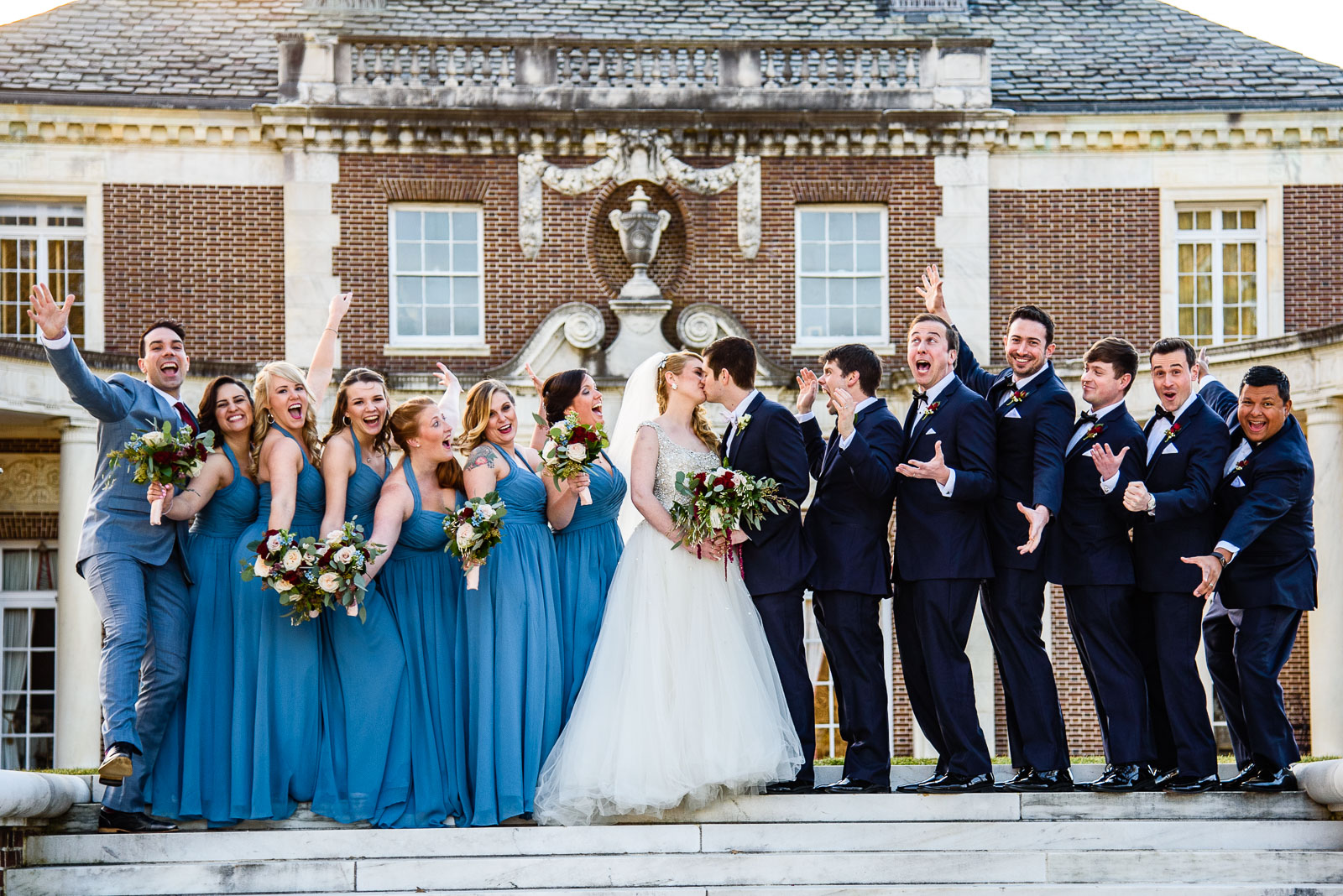 NYIT de Seversky Mansion Wedding bridal party