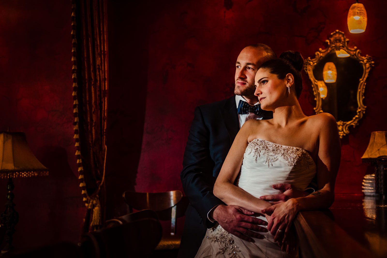 Bride's and groom portrait