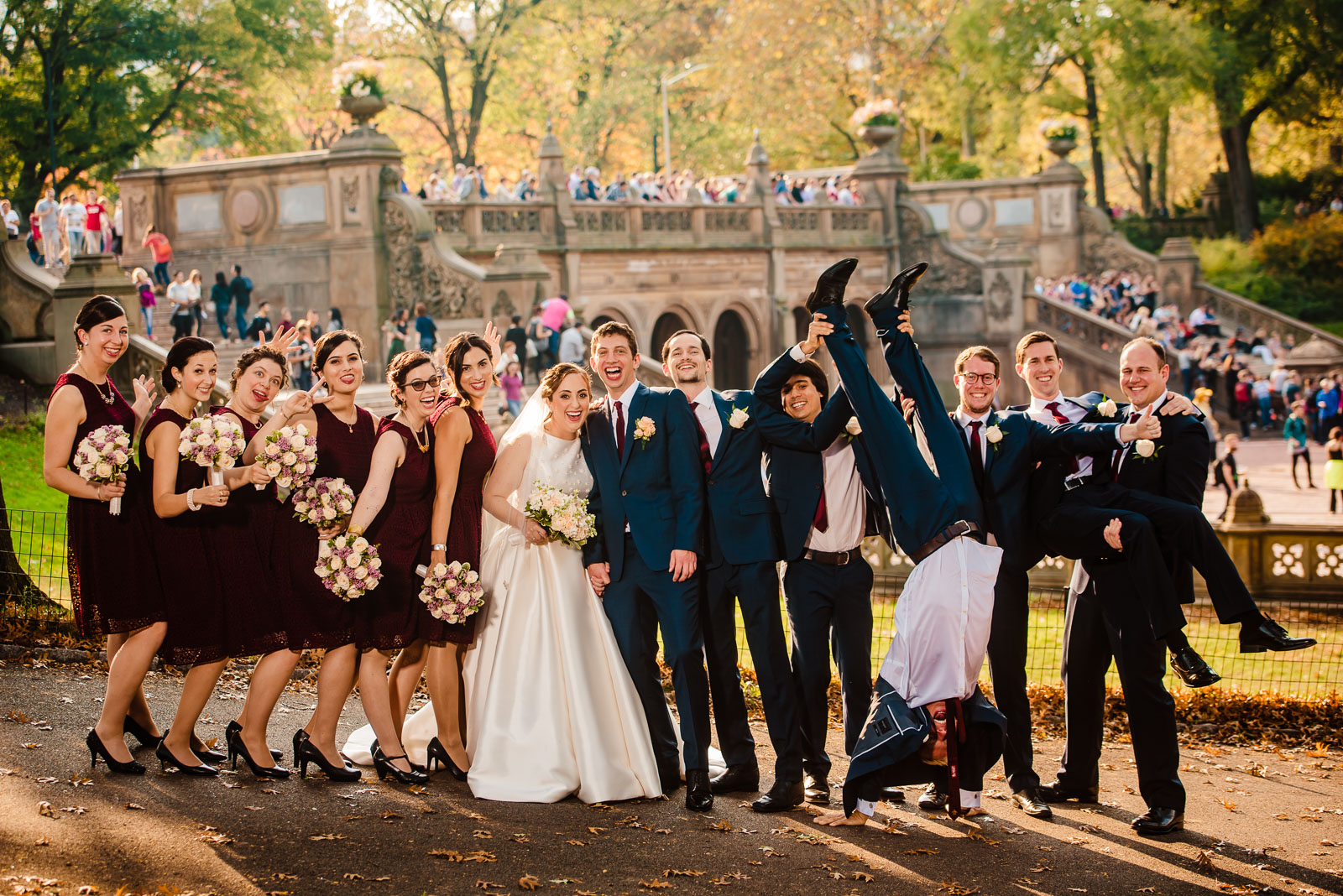 Bridal Party portrait at Central Park