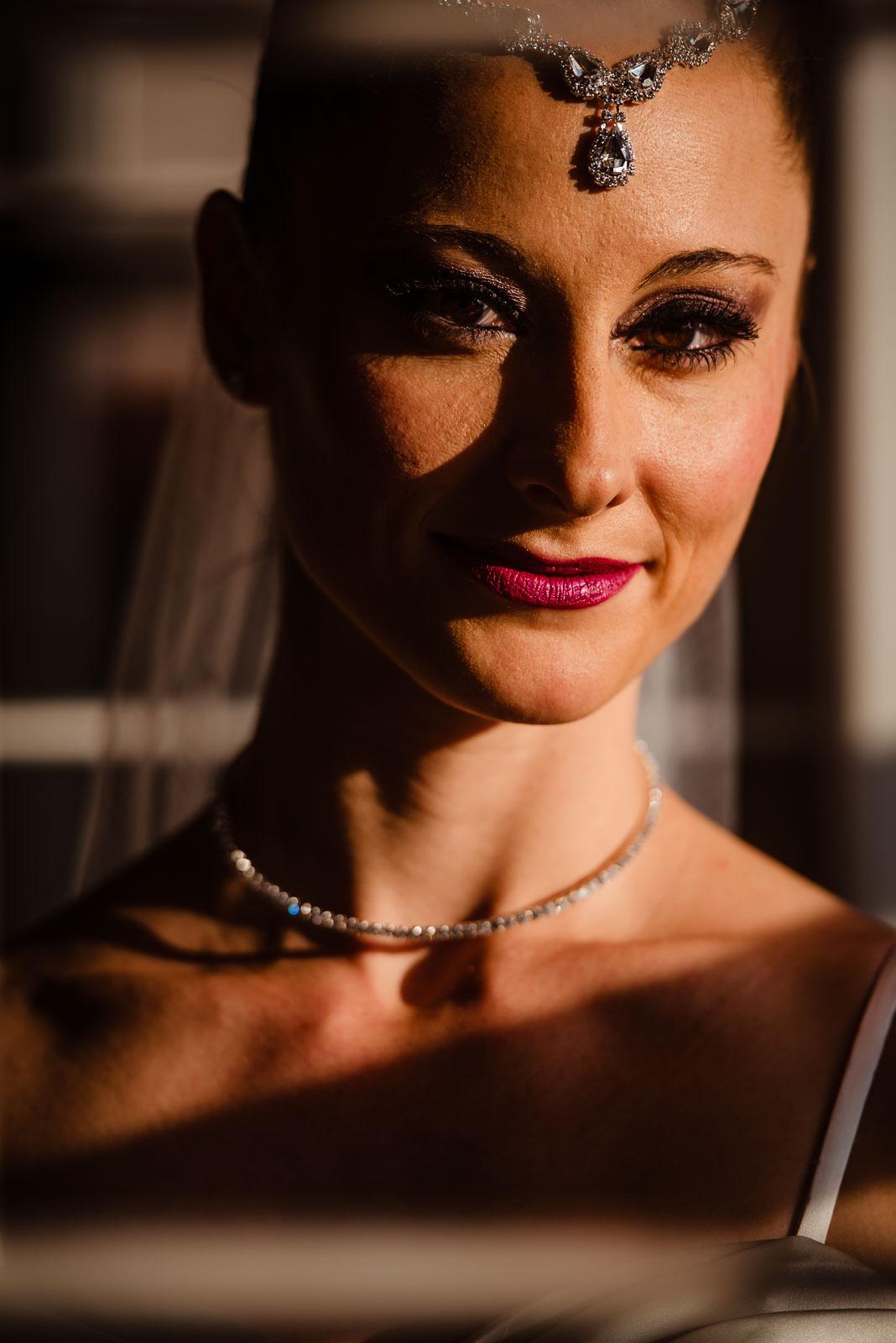 Bride's headshot portrait