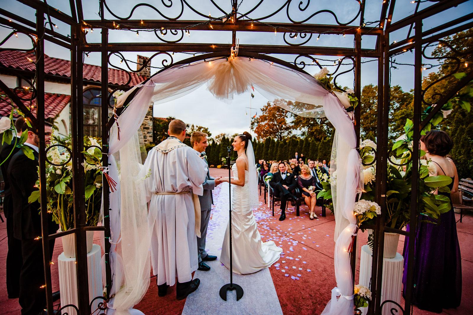 Douglaston Manor wedding ceremony