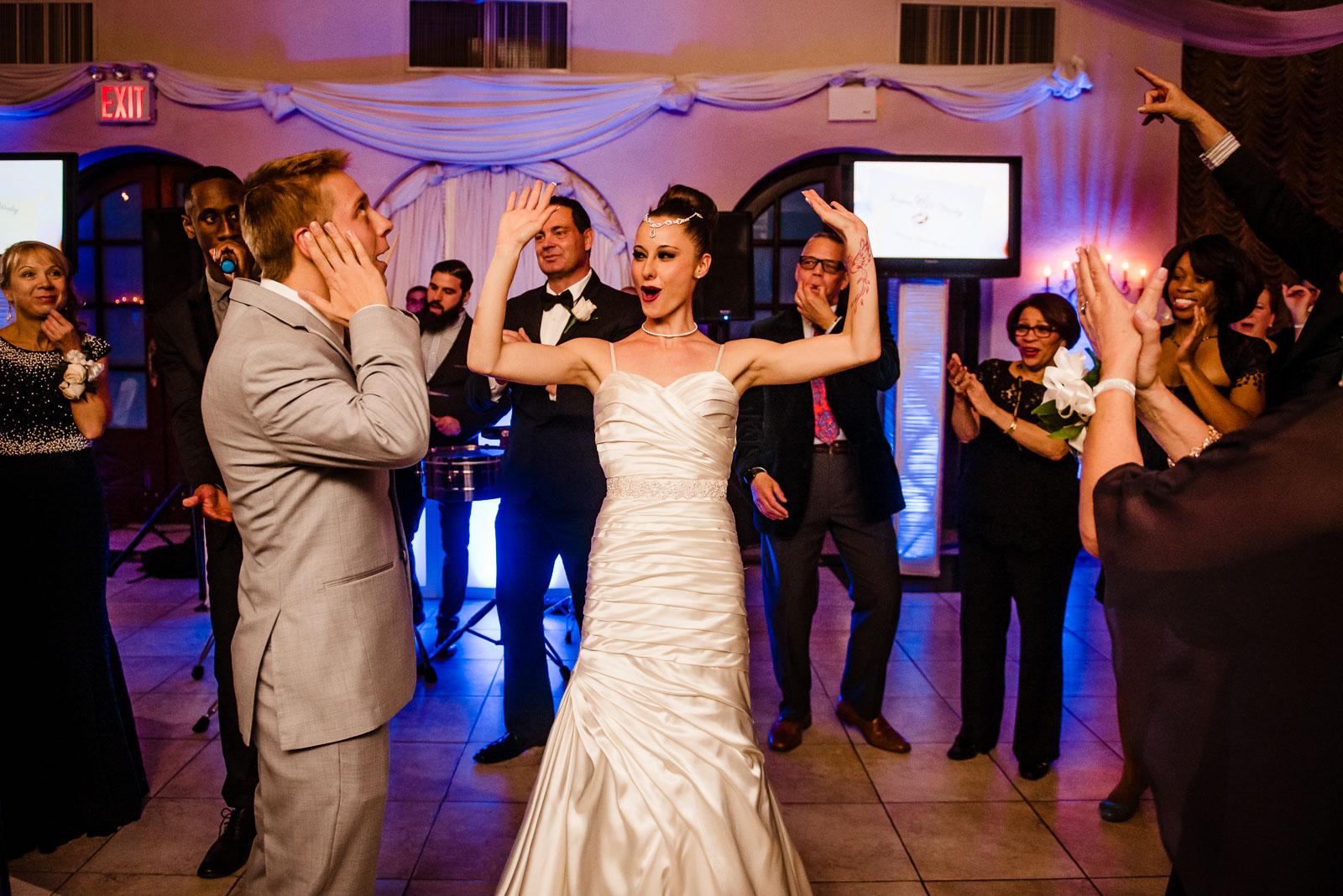 Bride and groom enterance
