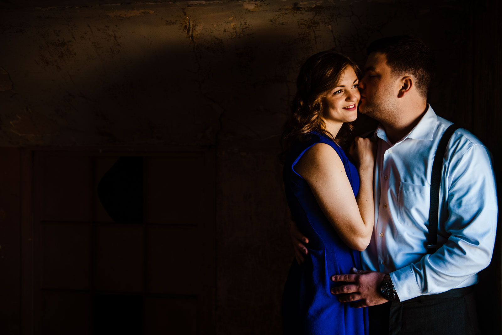 Couple's portrait in natural light
