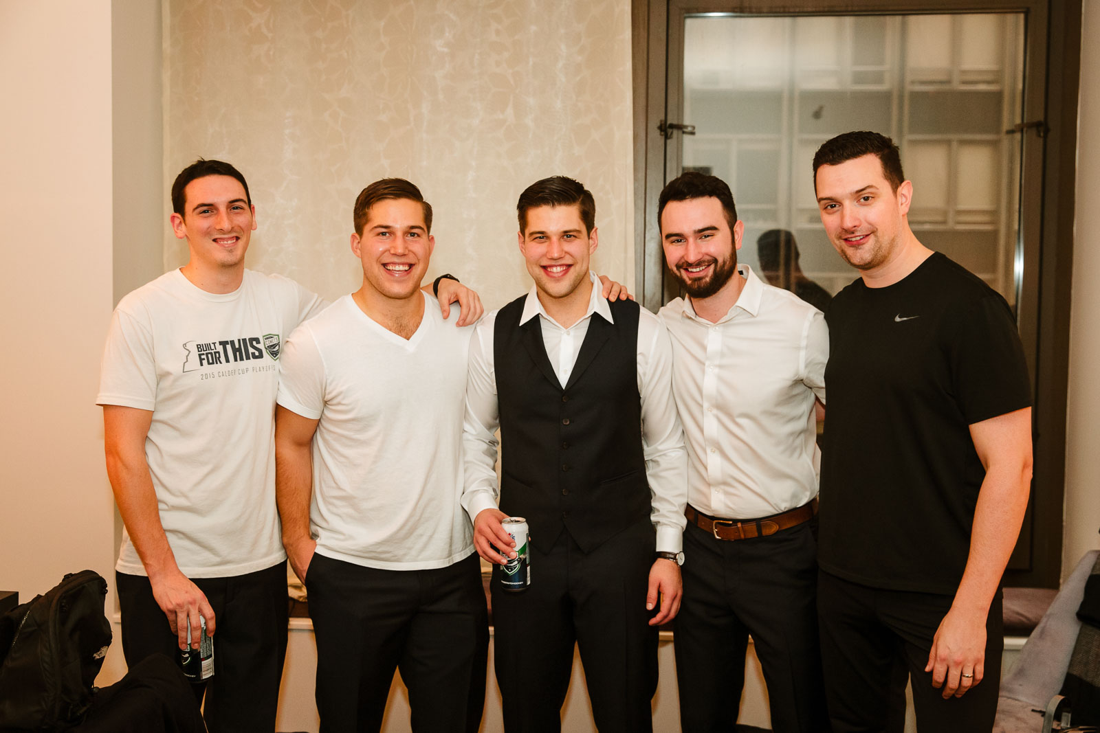 Groomsmen at Andaz Hotel on Wall Street