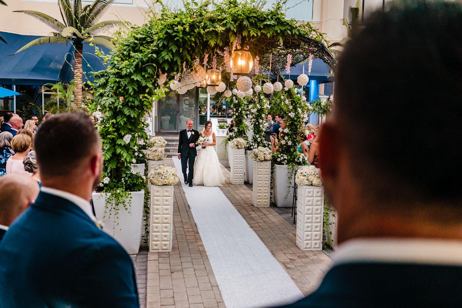 wedding ceremony entrance