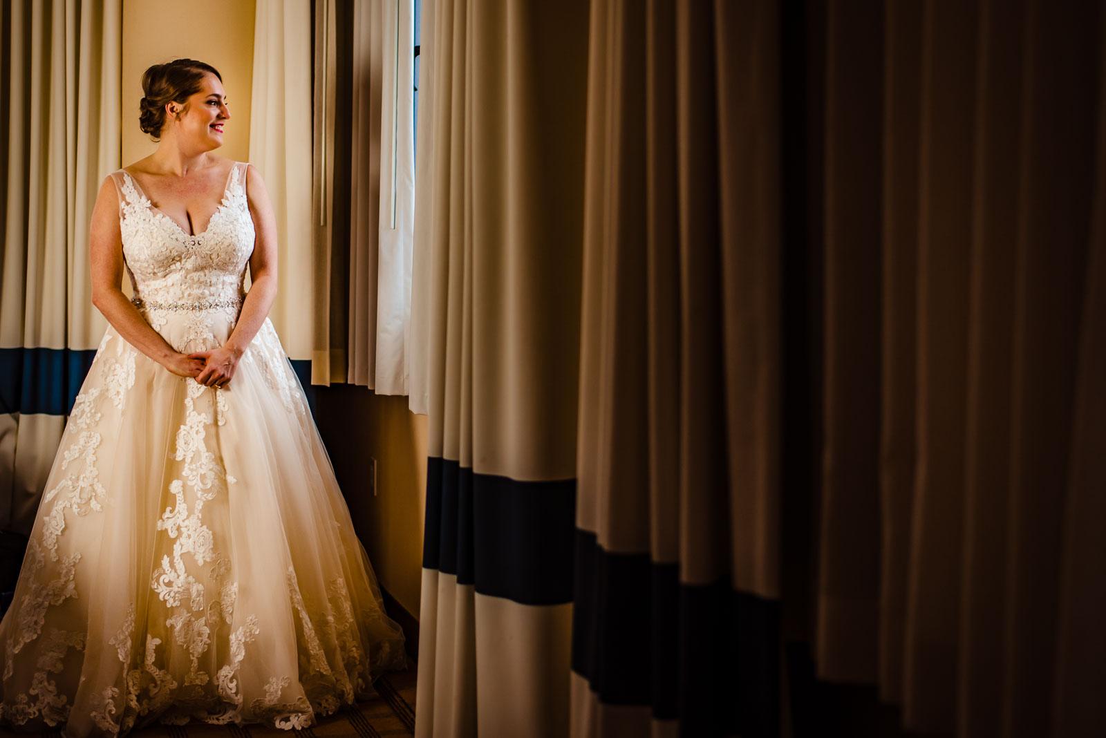 Bride portrait in hotel