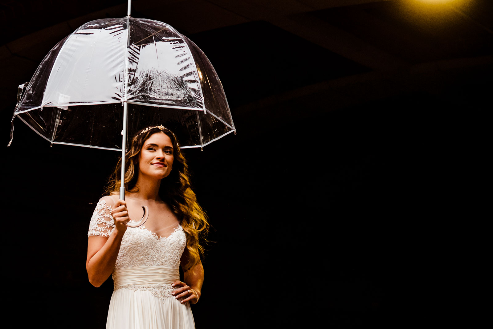 Bride portrait with umbrella