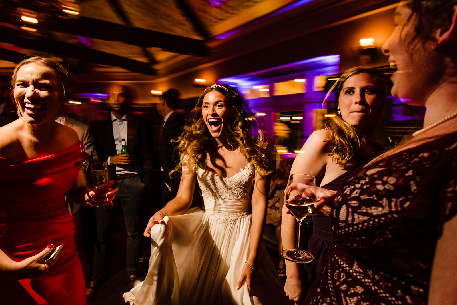 Bride enjoys dacing during reception