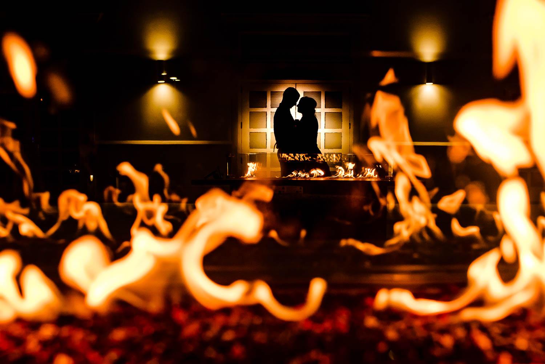 NYC wedding on fire portrait