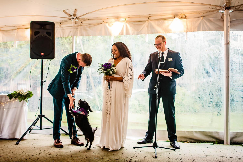 Onderdonk House wedding ceremony