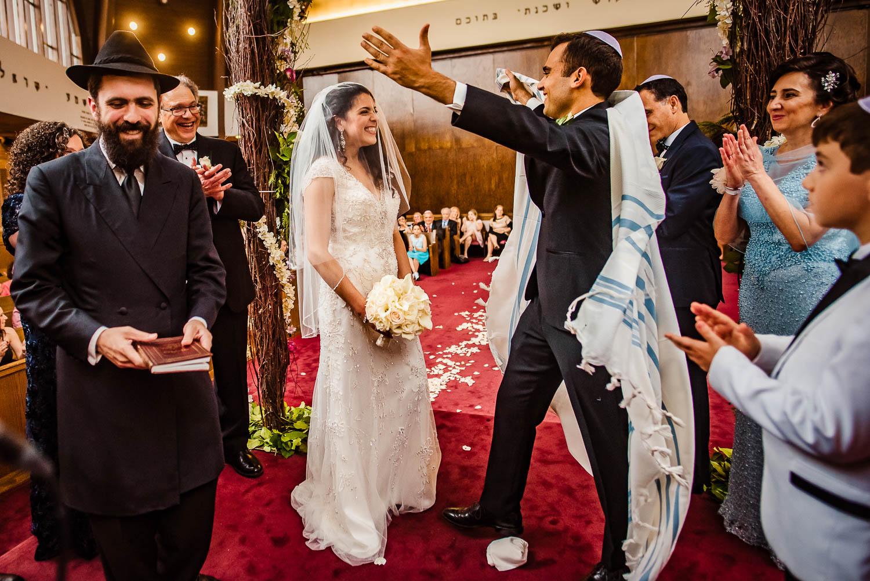 Sephardic Temple Jewish wedding ceremony