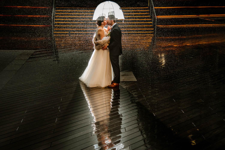 South Street Seaport wedding portrait