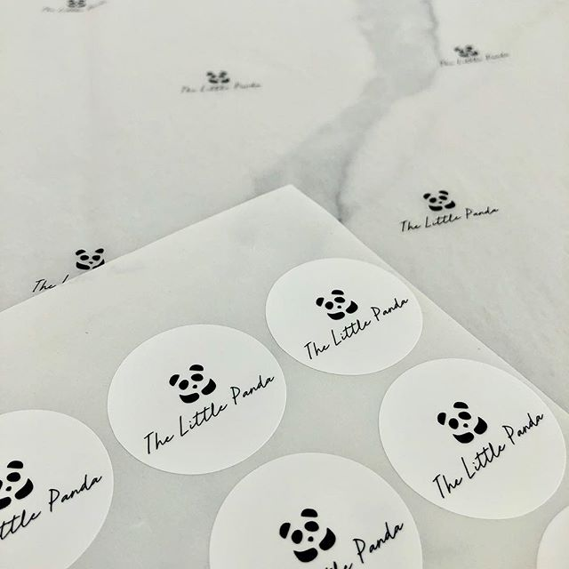 CUSTOM tissue paper & stickers for @thelittlepandashop 🐼  __ How you package your products is all part of the customer experience with your business - invest in branded packaging #weststationery
