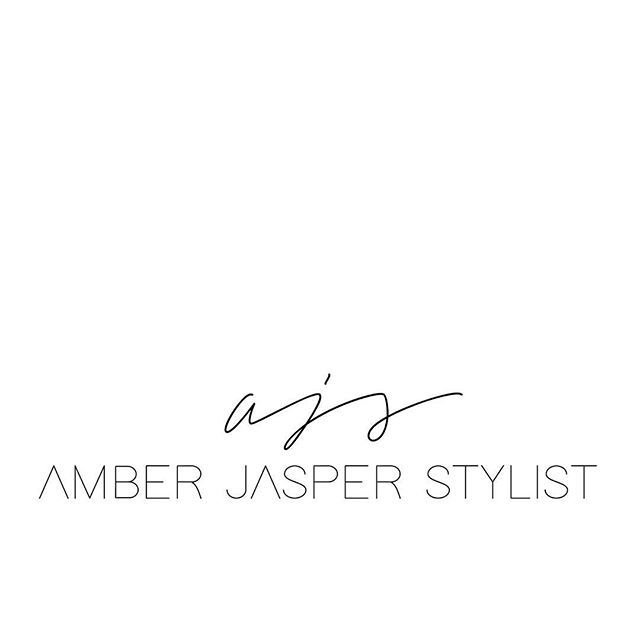 C L E A N + MINIMAL logo design + rebrand for @amberjasperstylist new website coming soon..... __ #weststationery