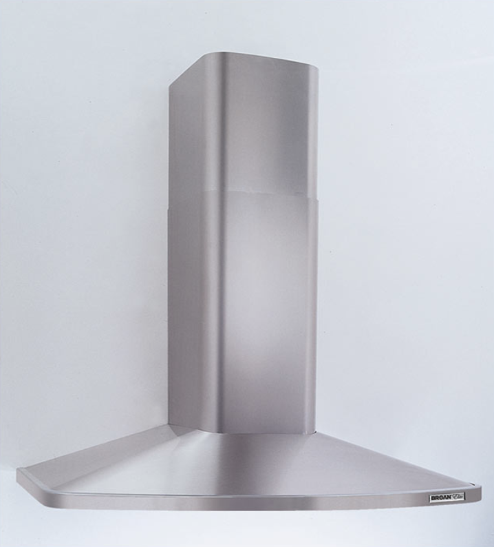 Broan elite rm52000 range hood displayed against a grey toned background.