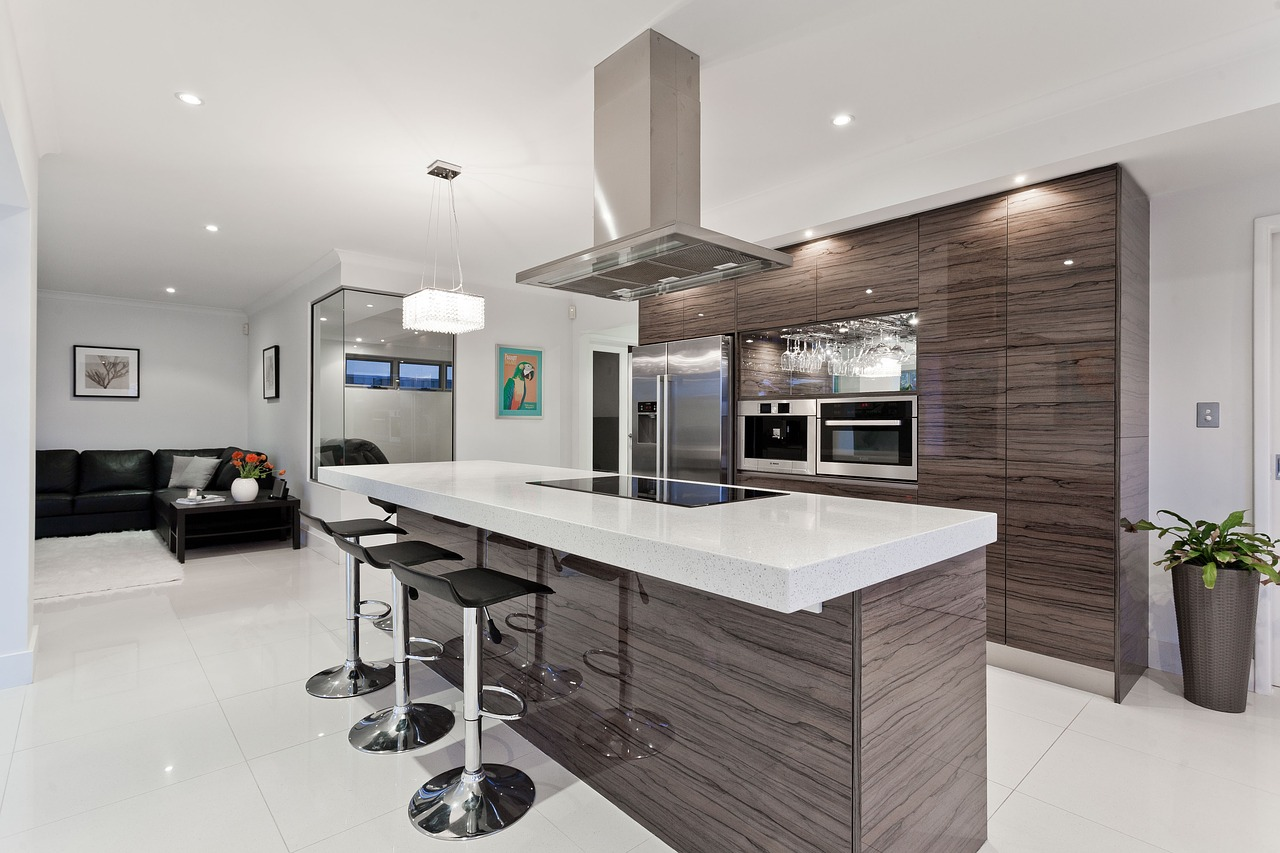 Open classic modern design with a beautiful, welcoming island where friends can gather and enjoy each other's company.