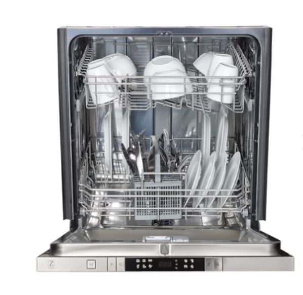 a look inside of the 24 inch dishwasher by zline.