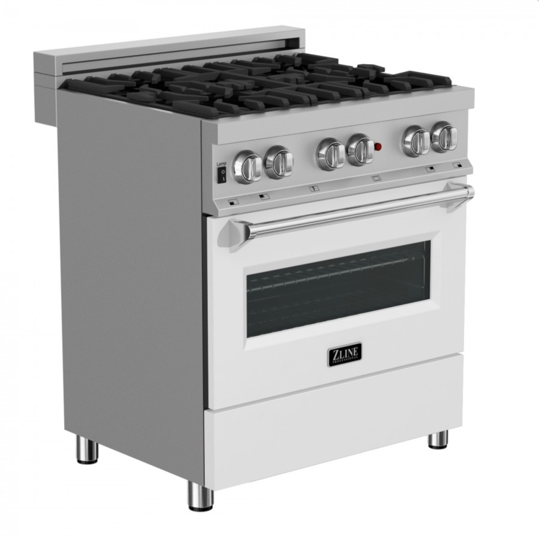 ZLINE'S DUAL FUEL RANGE  ALLOW TO EASY CUSTOMIZATION WITH REMOVABLE COLORED PANELS.