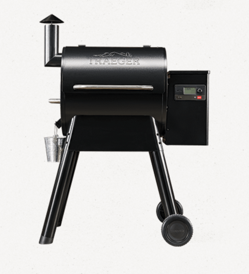 Wood pellet grill by traeger. perfect for easy cooking on a summer afternoon.