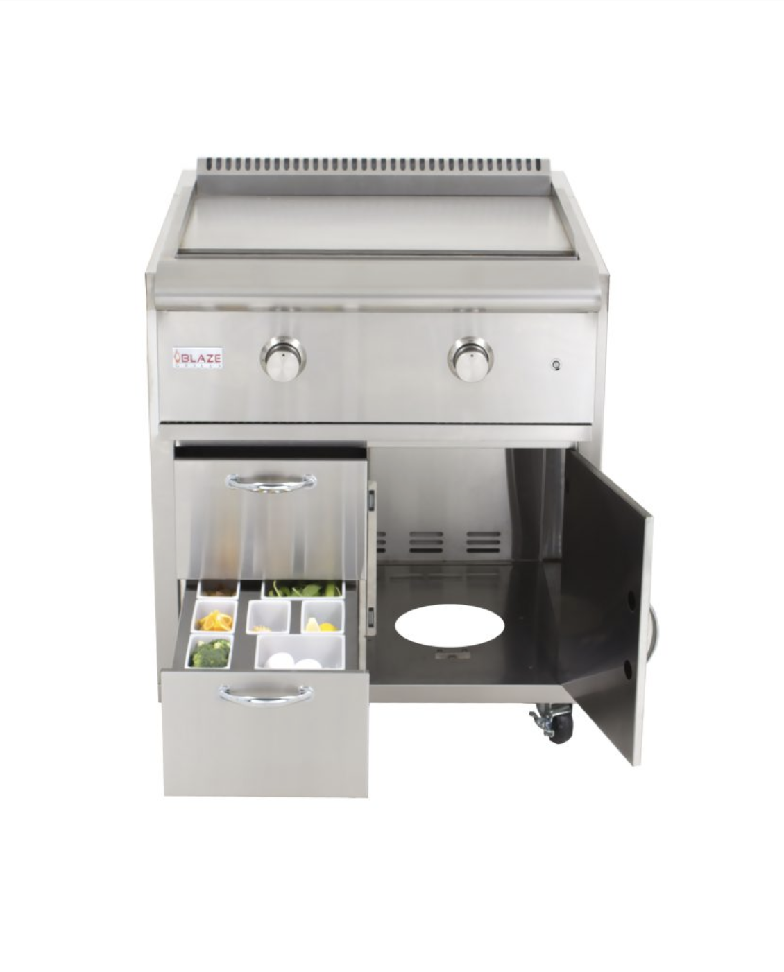 enjoy convenience with this freestanding griddle. it is equipped with everything you will need.