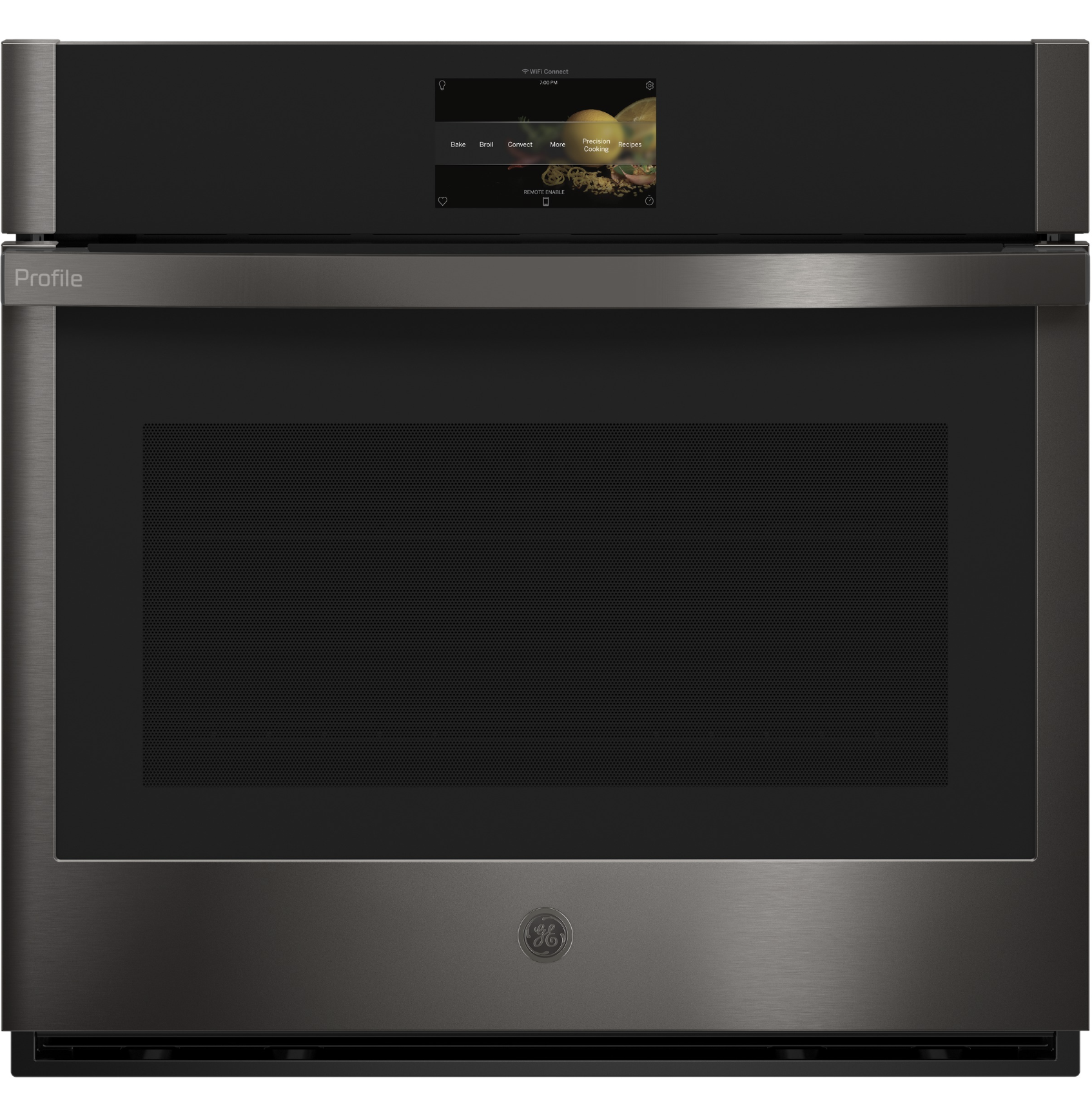 ge's profile 30: built-in convection single wall oven  has wifi-enabled cabilities, allowing you to preheat and monitor your food using their app.