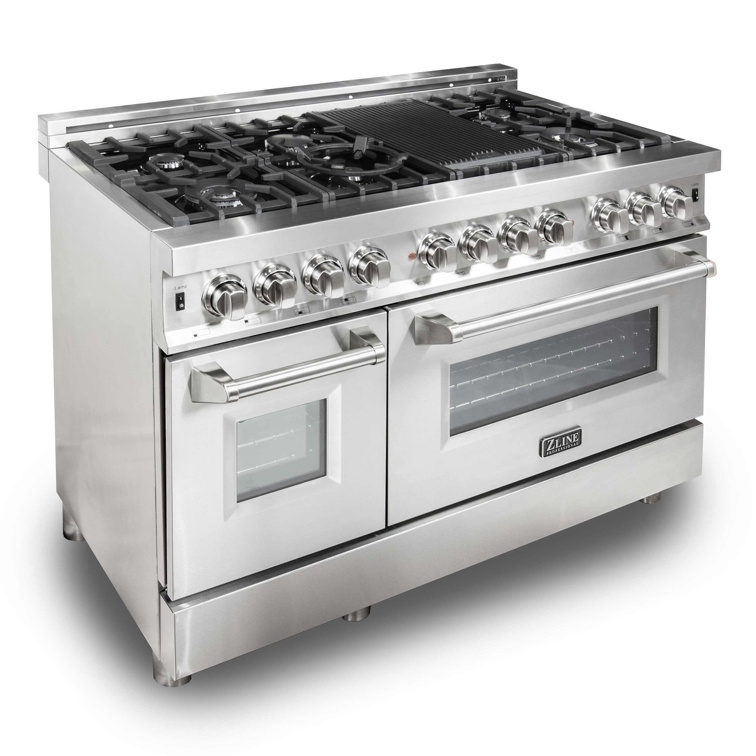 "zline kitchen & bath's professional 48"" dual fuel range"