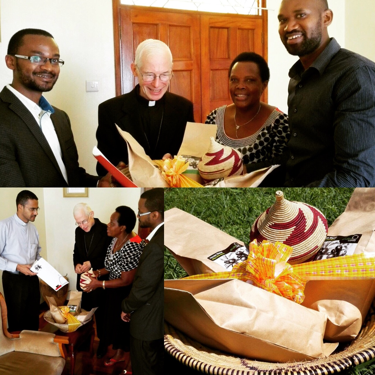The Endiro family is honored to welcome His Holiness Pope Francis to beautiful Uganda. It was a great privilege to be invited to present this gift of specialty grade Ugandan coffee to the leaders of the Apostolic Nunciature in Kampala in advance of the Holy Father's arrival.  In Uganda, we certainly have our challenges, but we also have many wonderful blessings to share with the world. #brewingbetter