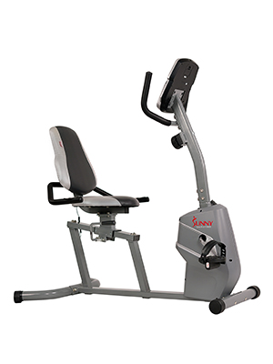If you are committed to exercising and want a bike in your home then this stationary bike is a great option.  It is easy to mount and the seat can adjust in seconds.  It also measures your pulse so you know exactly how hard you are working.