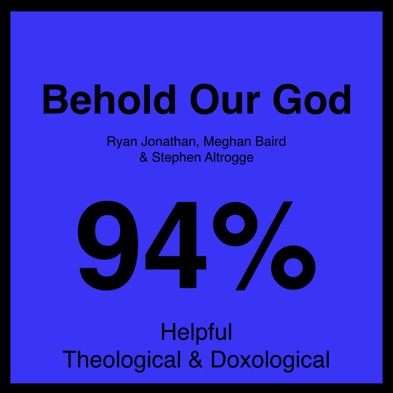 Behold Our God - Check Out Our ArticleJames Cheeseman Music ArticleSPotifyYouTube