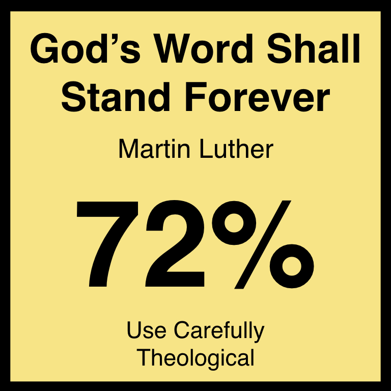 God's Word Shall Stand Forever - Article Coming Soon…Spotify