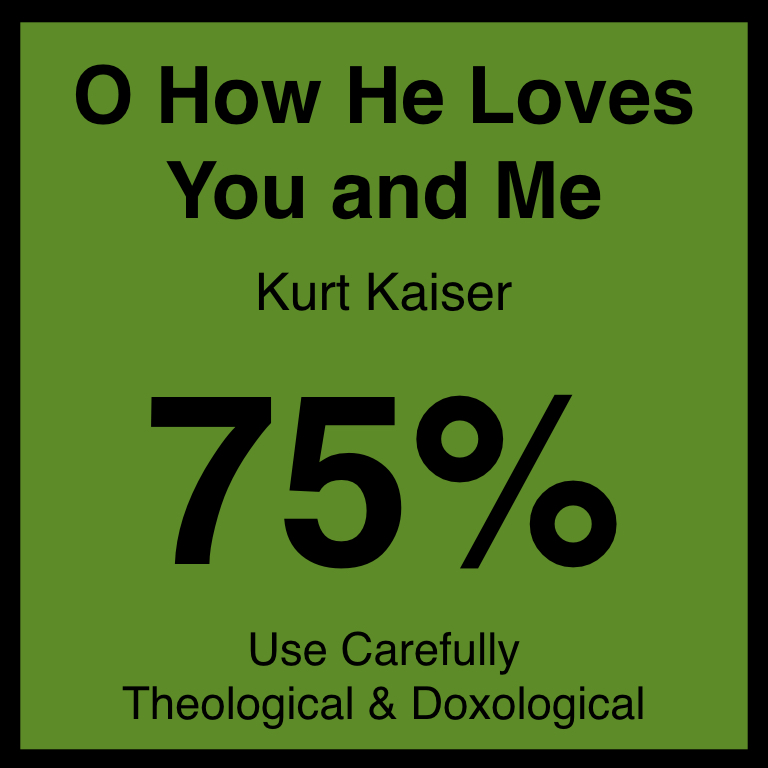 O How He Loves You and Me - Article Coming Soon…Hymnary.org ArticleSpotifyYouTube