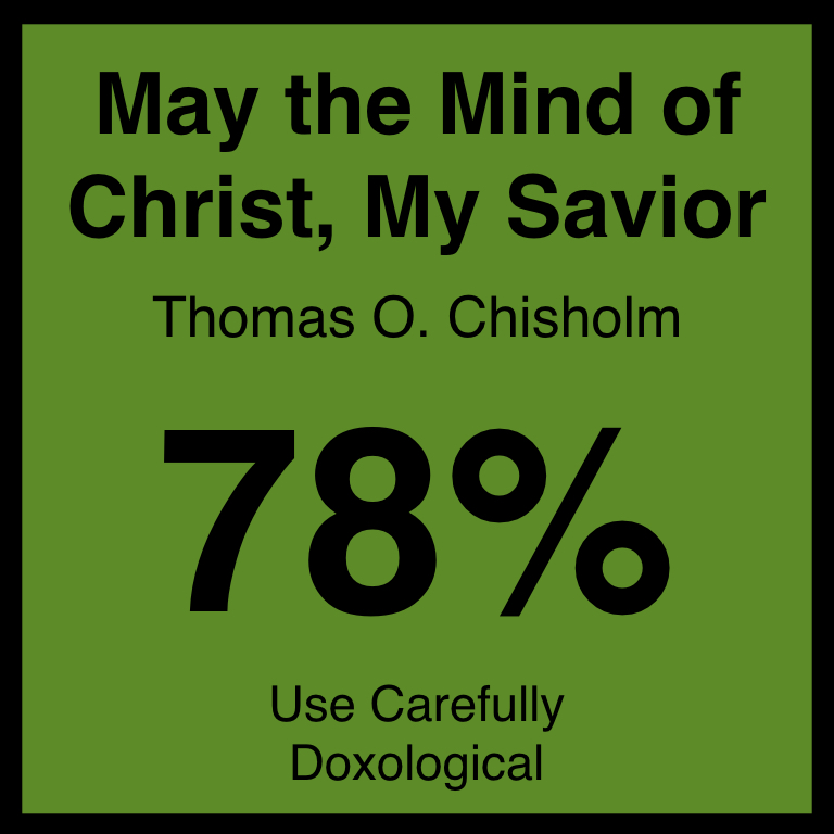May the Mind of Christ, My Savior - Article Coming SOon…Hymnary.org ArticleSpotifyYouTube