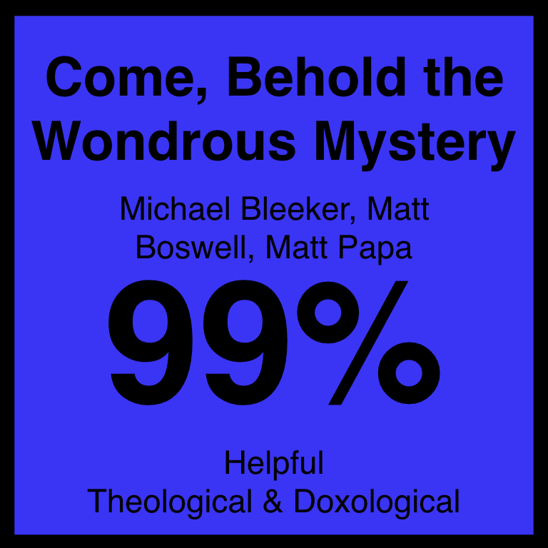 Come, Behold the Wondrous Mystery - Article Coming Soon…Matt Papa's ArticleSpotifyYouTube
