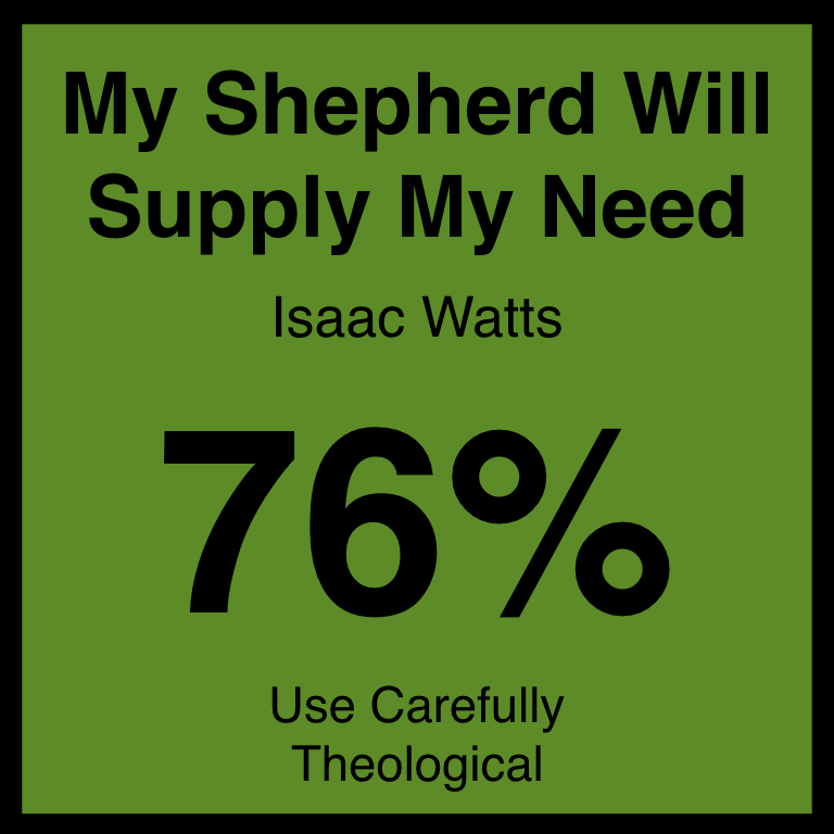 My Shepherd Will Supply My Need - Article Coming Soon…Hymnary.org ArticleSpotifyYouTube