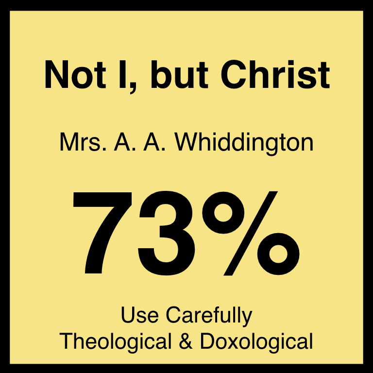 Not I, but Christ - Article Coming Soon…Hymnary.org ArticleSpotifyYouTube