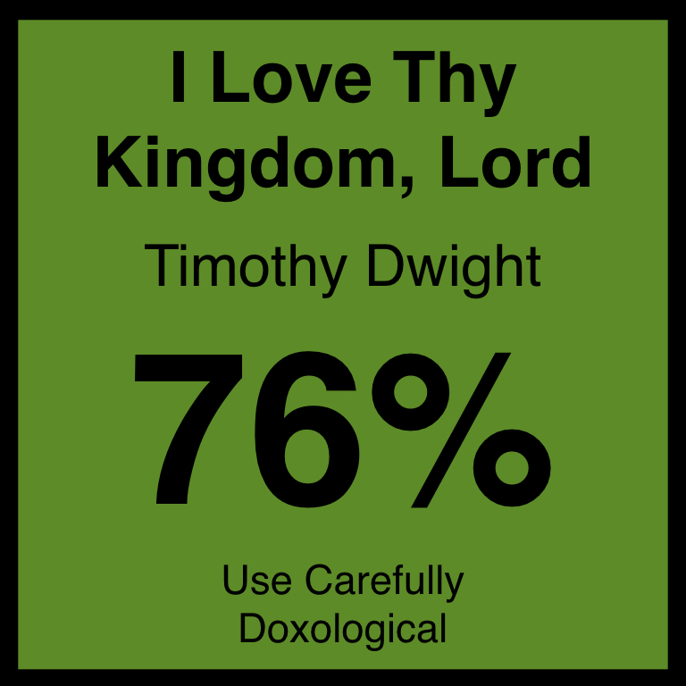 I Love Thy Kingdom, Lord - Article Coming SOon…Hymnary.org ArticleSpotifyYouTube