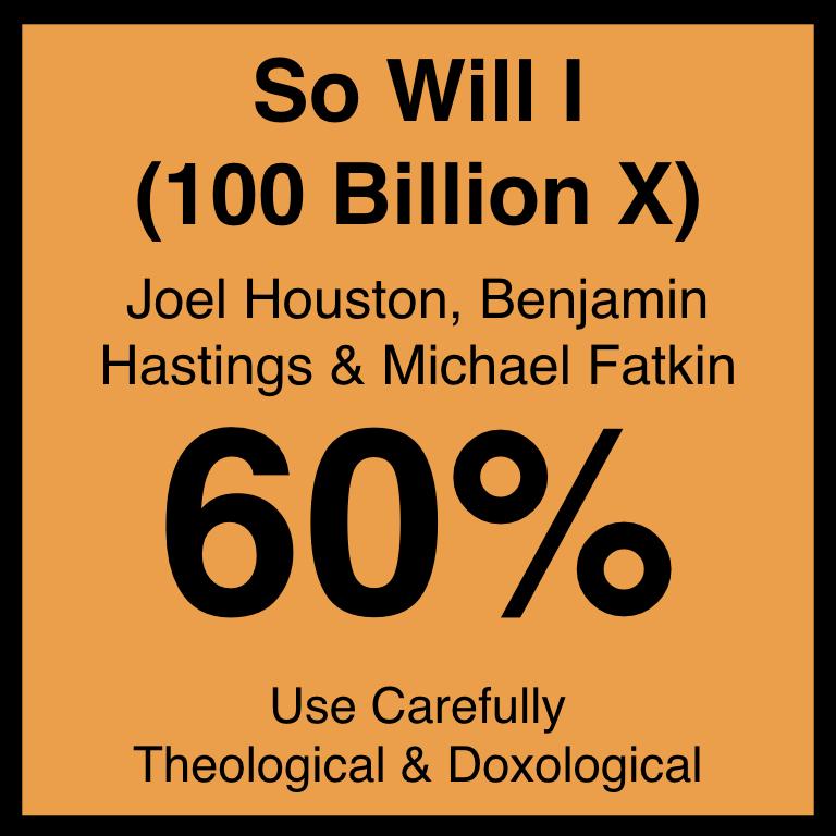 So Will I (100 Billion X) - Article Coming Soon…Desiring God's ArticleSpotifyYouTube