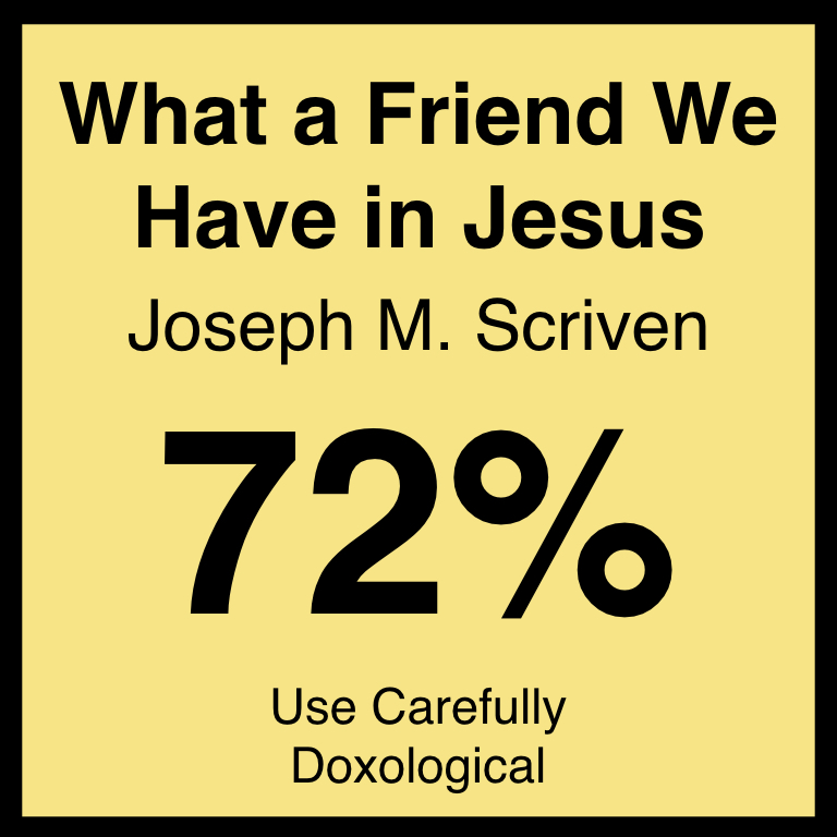What a Friend We Have in Jesus - Article Coming Soon…Hymnary.org ArticleSpotifyYouTube