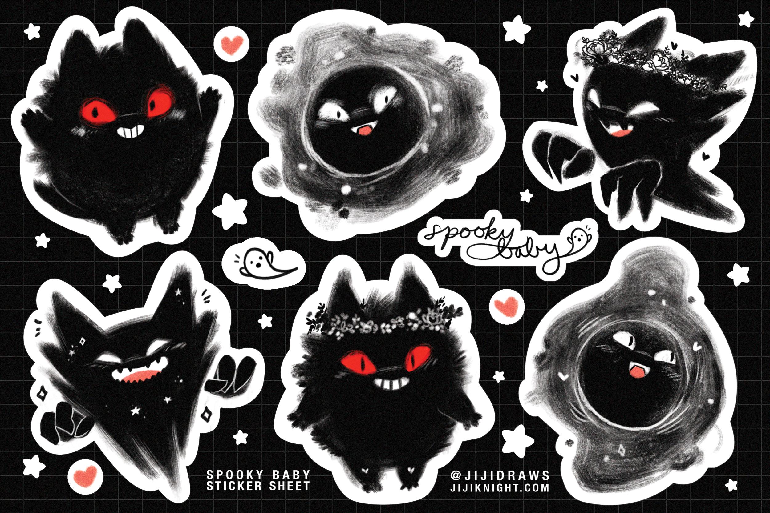 gengar-gastly-haunter-sticker-sheet-pokemon-jijidraws.png