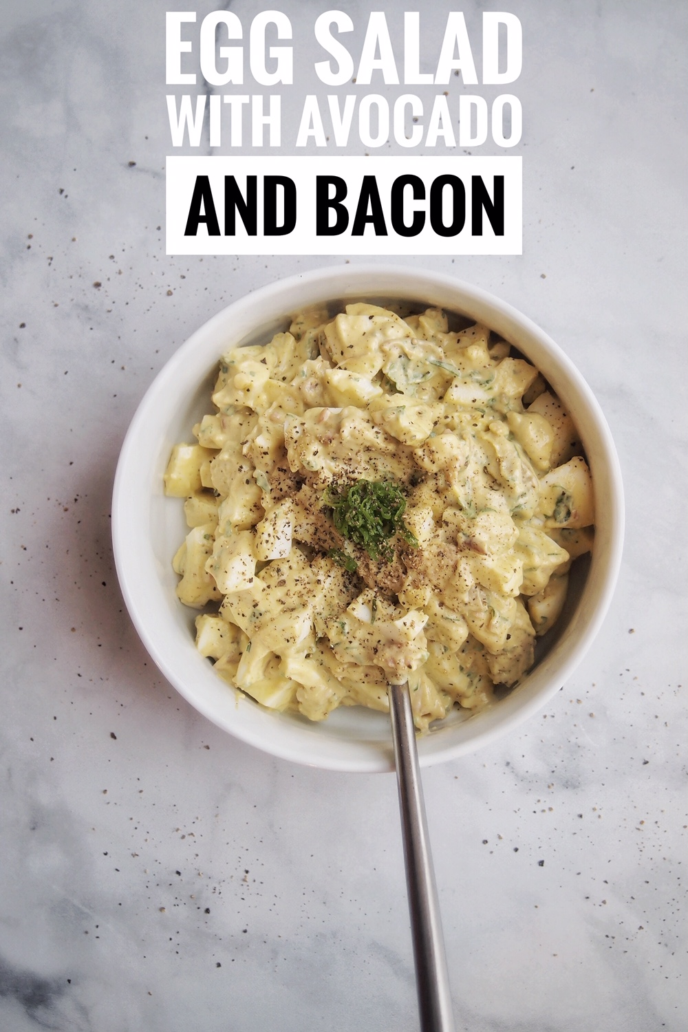 Keto Egg Salad with Avocado and bacon recipe