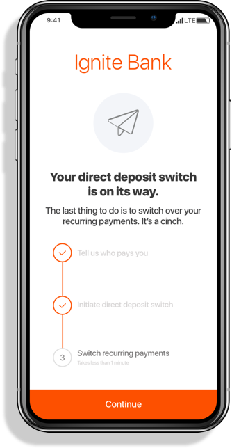 ClickSWITCH   Account switching for direct deposit and recurring