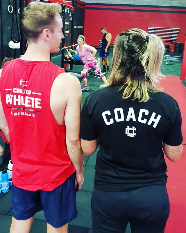Athlete, coach... and photo bomber! 😅 Our night time crew looking sharp in our Chalk Up merch. . . . . #ChalkUpAU #ChalkUpCrew #ChalkUp #CrossFitEthos #CrossFit #crossfitter #crossfitcommunity #crossfitlife #sydneylocal #ilovesydney #fitspiration #gymjunkie #fitfam #healthandfitness #fitness #dedication #gym #motivation #training #health #fit #fitspo #workout #active #strong #exercise #CrossFitAustralia #CrossFitopen