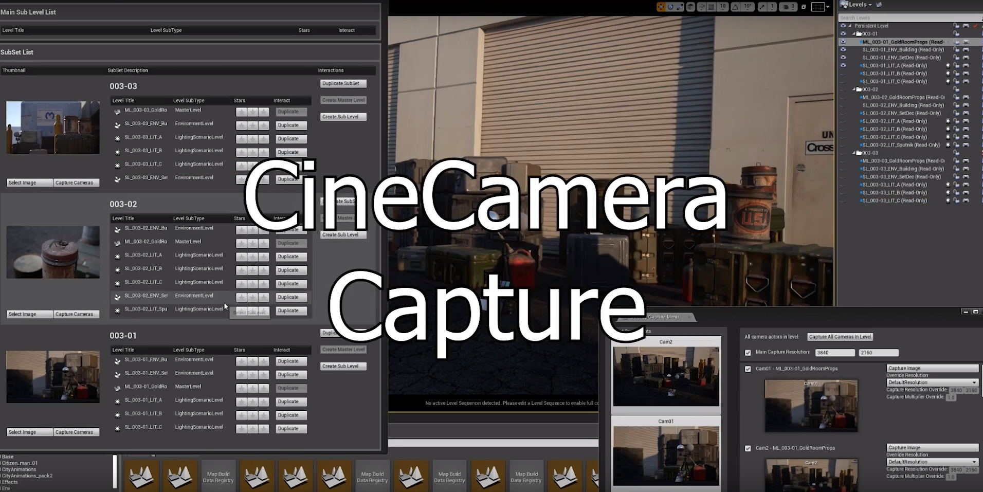 Render all cameras at once, or watch as thumbnails update in real-time. This tool makes it easy to spit out footage for multiple shots at once.