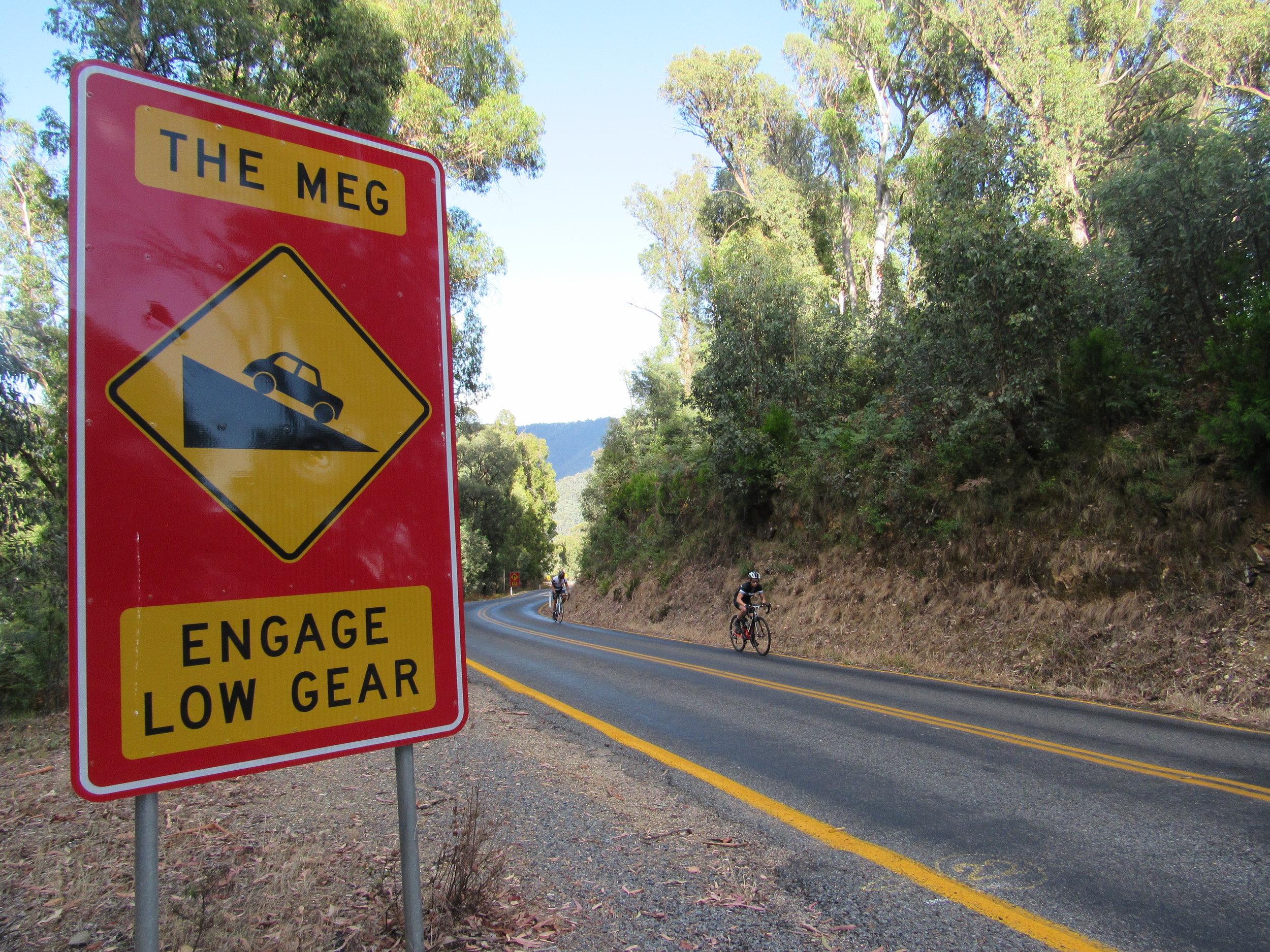 5km into Mt Hotham climb… the Meg