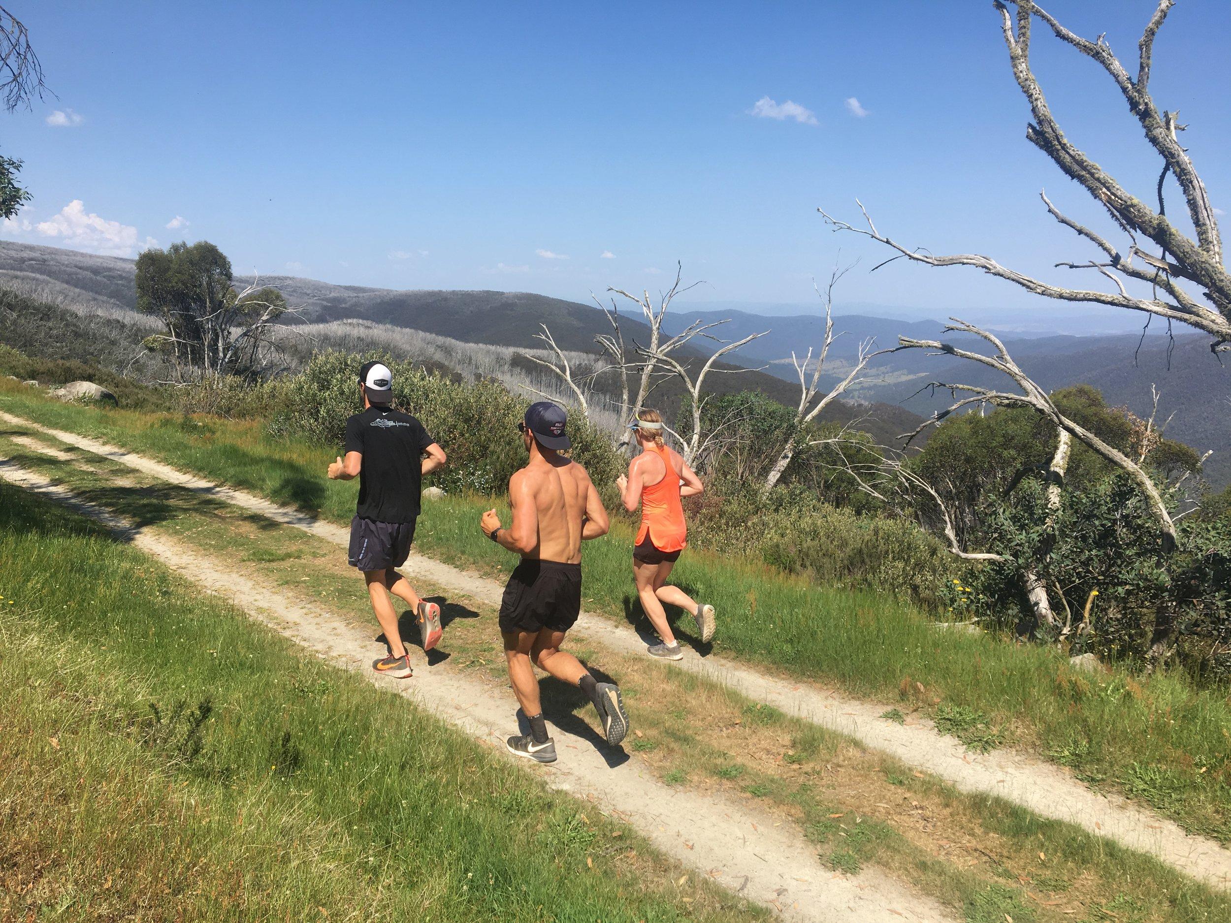 Long run at the top of Falls Creek