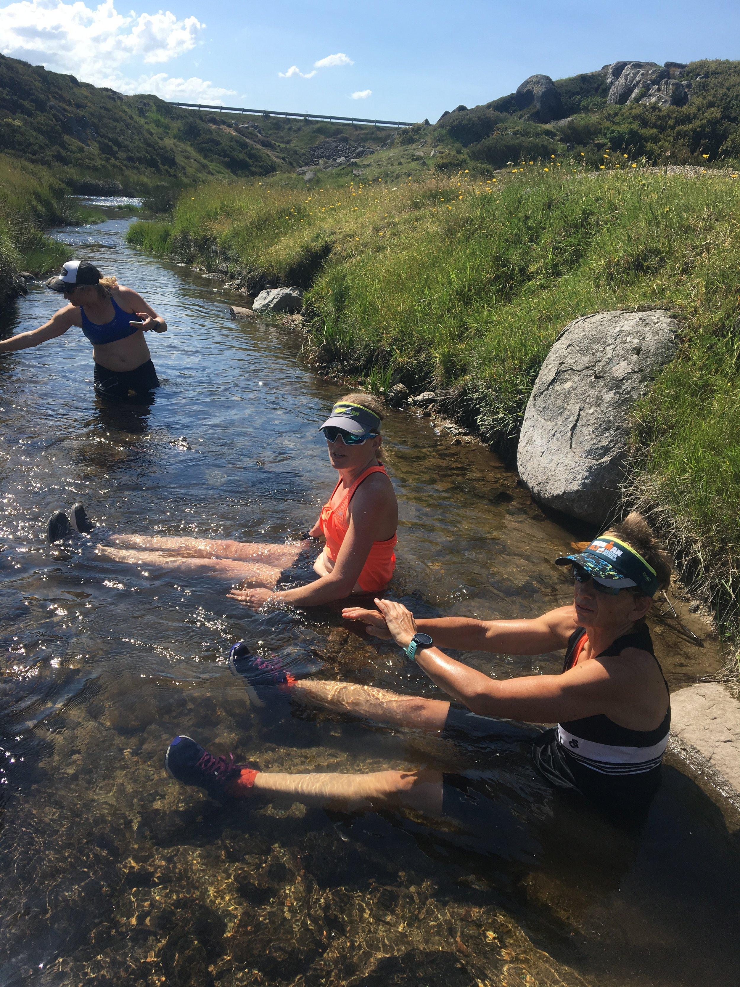 Cooling off post long run