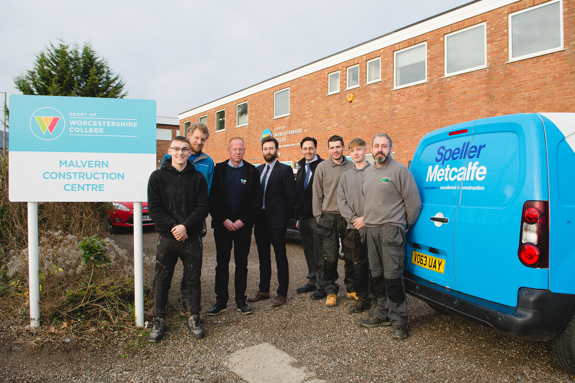 2018 apprentices and their employers join Travis Perkins, Speller Metcalfe and the Heart of Worcestershire College