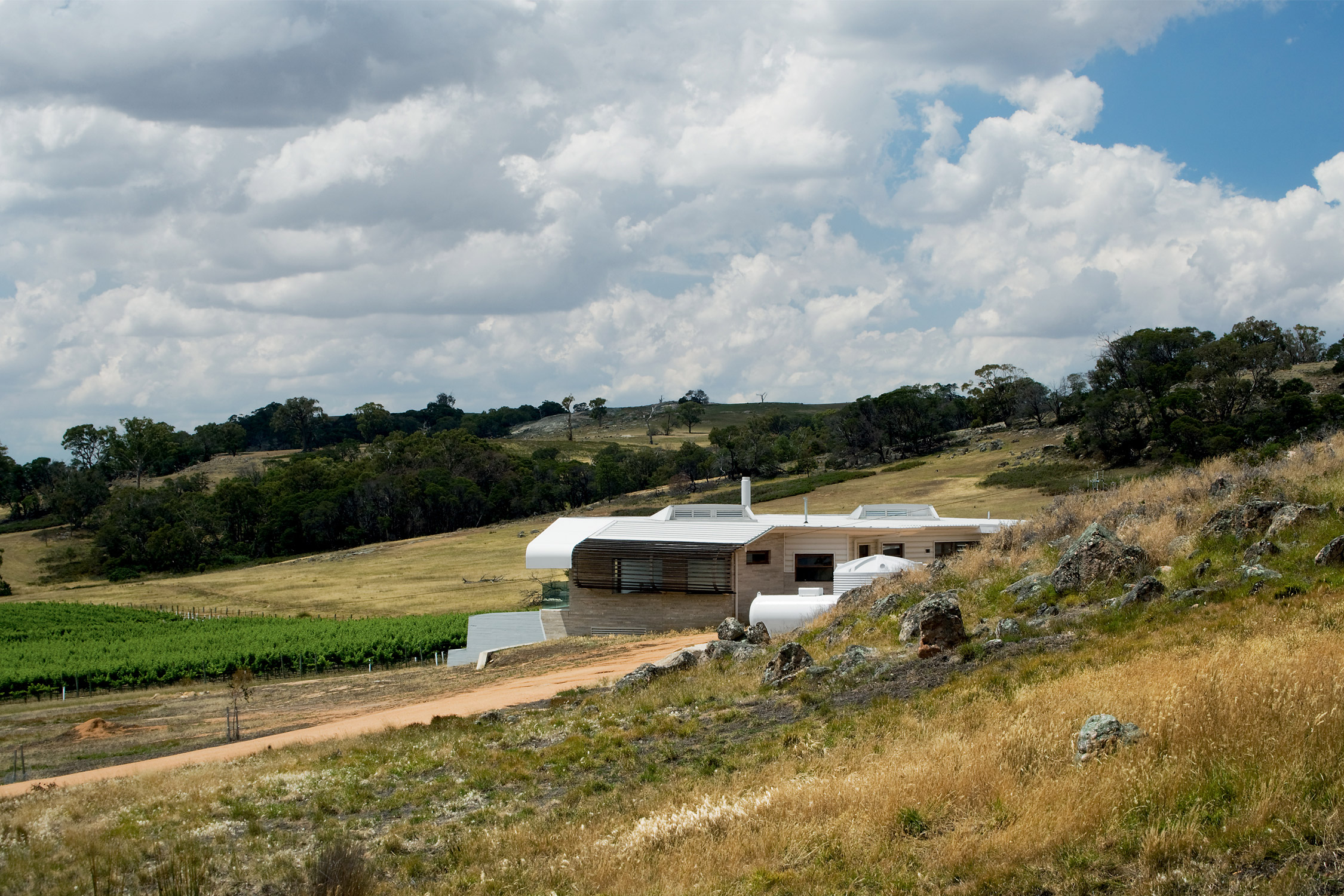 Paul Morgan Architects Avenel House self-sustaining exterior distant view