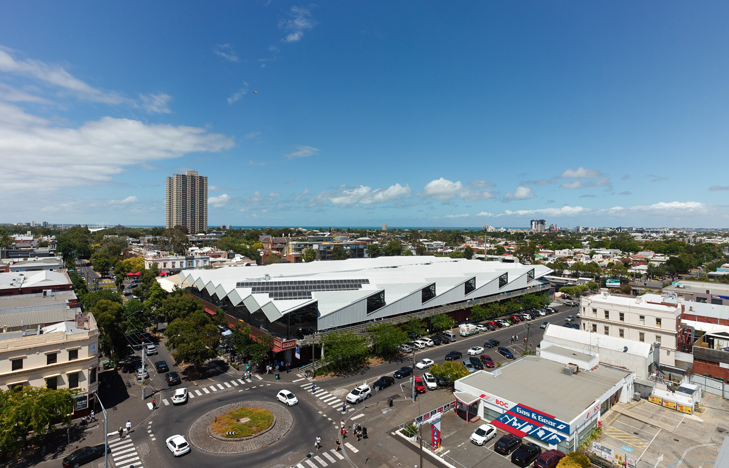 Paul Morgan Architects South Melbourne Market Roof aerial