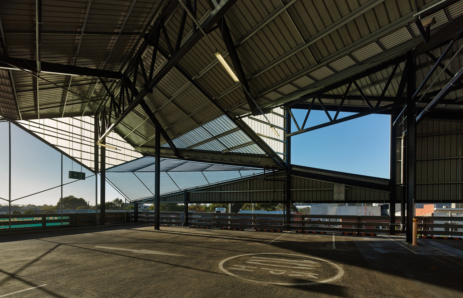 Paul Morgan Architects South Melbourne Market Roof interior